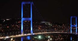Otizme dikkat çekmek için İstanbul'da mavi ışıklar yandı